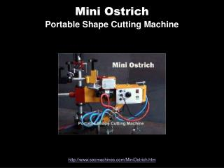 Mini Ostrich Portable Shape Cutting Machine