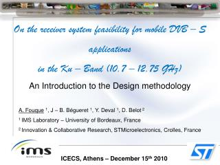 ICECS, Athens – December 15 th  2010
