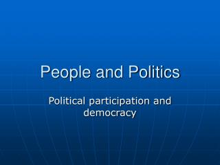 People and Politics