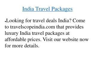 Travel package deals