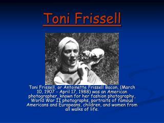 Toni Frissell