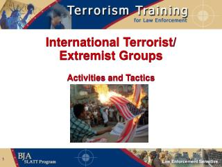 International Terrorist/ Extremist Groups Activities and Tactics