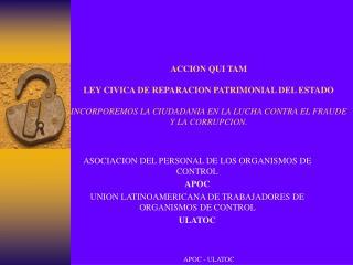 ASOCIACION DEL PERSONAL DE LOS ORGANISMOS DE CONTROL APOC