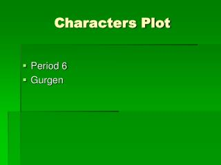 Characters Plot