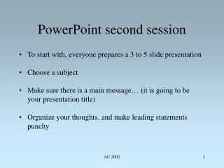 PowerPoint second session