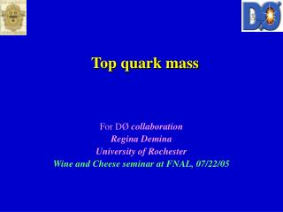 Top quark mass