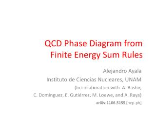 QCD Phase Diagram from  Finite Energy Sum Rules