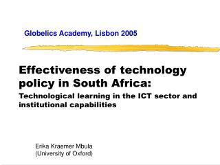 Globelics Academy, Lisbon 2005
