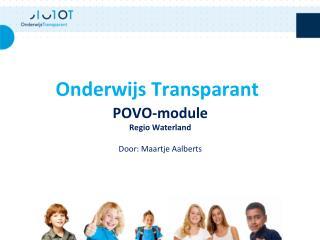 POVO-module Regio Waterland Door: Maartje Aalberts