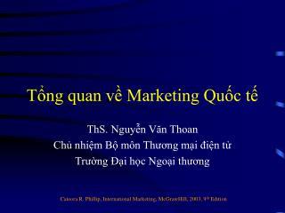 Tổng quan về Marketing Quốc tế