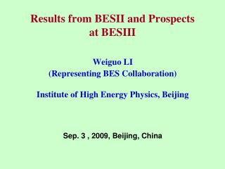 Results from BESII and Prospects  at BESIII