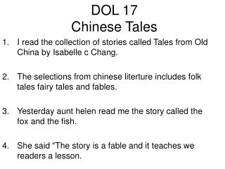 DOL 17 Chinese Tales