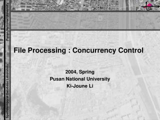 File Processing : Concurrency Control
