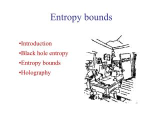 Entropy bounds