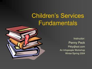 Children�s Services Fundamentals