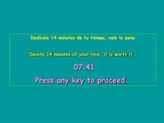 Dedícale 14 minutos de tu tiempo, vale la pena Devote 14 minutes of your time, it is worth it…