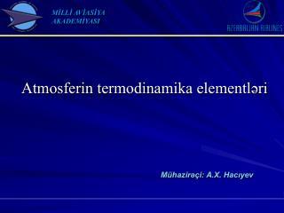 Atmosferin termodinamika elementləri