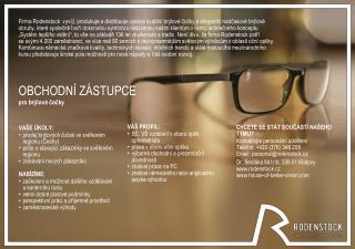 OBCHODNÍ ZÁSTUPCE pro brýlové čočky