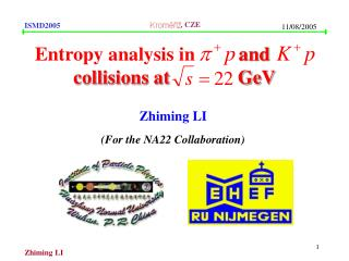 Entropy analysis in          and   	      collisions at              GeV