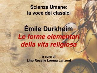 Scienze Umane: la voce dei classici