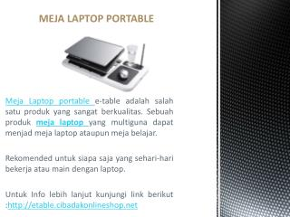 meja laptop lipat portable
