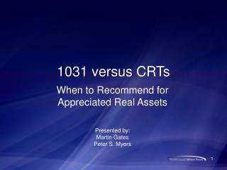 1031 versus CRTs