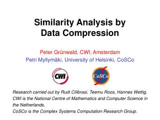 Similarity Analysis by  Data Compression