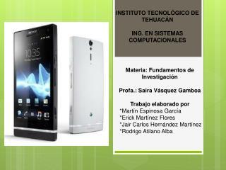 INSTITUTO TECNOLÓGICO DE TEHUACÁN ING . EN SISTEMAS COMPUTACIONALES