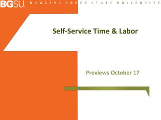 Self-Service Time & Labor