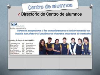 Directorio de Centro de alumnos