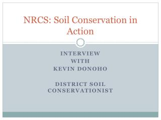 NRCS: Soil Conservation in Action