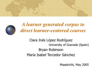 A learner generated corpus to direct learner-centered courses