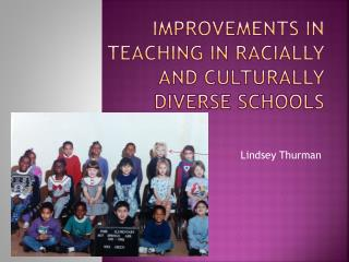Improvements in teaching in racially and culturally diverse schools