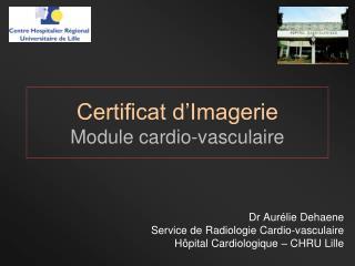 Certificat d'Imagerie Module cardio-vasculaire