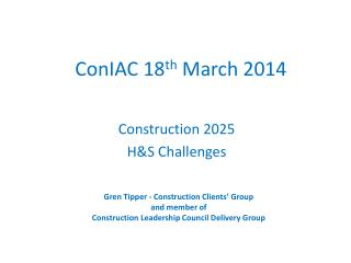 ConIAC  18 th  March 2014