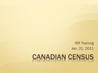 Canadian census