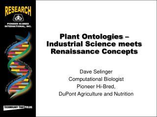 Plant Ontologies – Industrial Science meets Renaissance Concepts