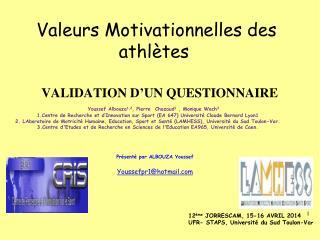 Valeurs Motivationnelles des athlètes
