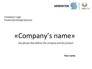 � Company�s name �