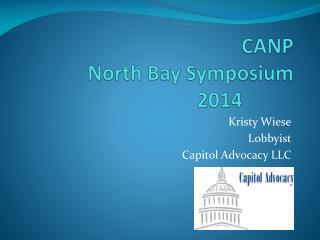 CANP  North Bay Symposium 2014
