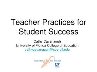 Teacher Practices for Student Success