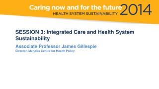 A Research Perspective 2014  NSW HEALTH SYMPOSIUM  19 June 2014 James Gillespie