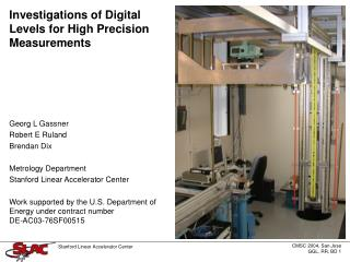 Investigations of Digital Levels for High Precision Measurements