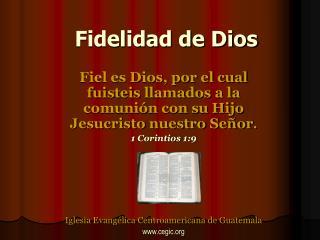 Fidelidad de Dios
