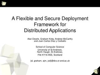 A Flexible and Secure Deployment Framework for Distributed Applications