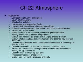 Ch 22-Atmosphere