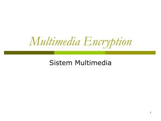 Multimedia Encryption