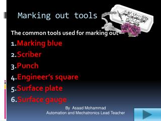 Marking out tools