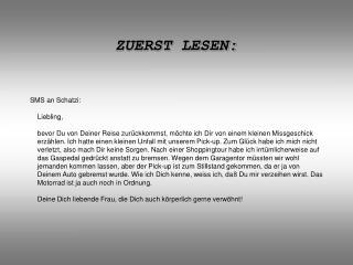 ZUERST LESEN: