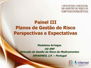 Painel III Planos de Gestão do Risco Perspectivas e Expectativas